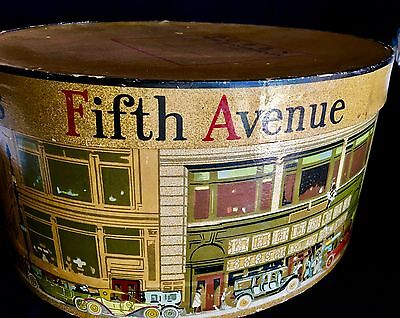"Vintage DOBBS Fifth Avenue New York Oval Hat Box 12.5"" x 14.5"