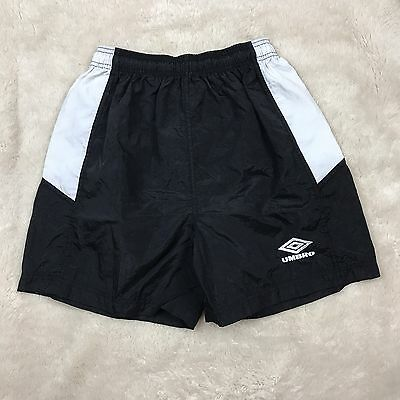VIntage Umbro Classic Shorts Soccer White Black Made in USA Youth XL