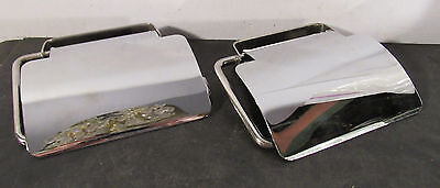 "Pair ""Egli"" chrome TP toilet paper holders"