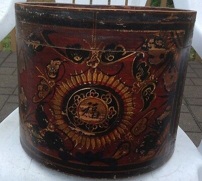 Antique Chinese Hat Box Rare Heirloom