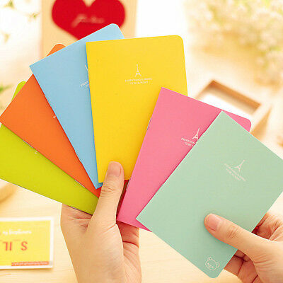 Cute Charming Mini Portable Einfarbig Paper Diary Notebook Memo A6NoteBook