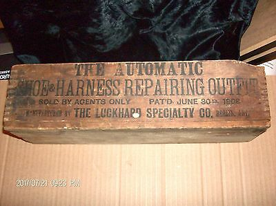 Antique Wooden Advertising box pre 1916 marked Berlin Ont.  renamed Kitchener