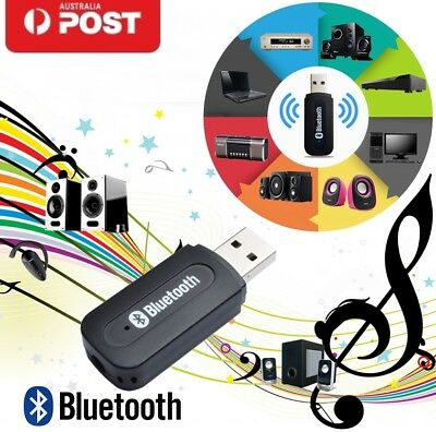 Wireless Bluetooth 3.5mm Audio USB Receiver Adapter Music Dongle AUX A2DP Car OZ