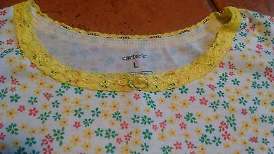 Girls Carters size large 8/10 nightgown pajamas NWT summer yellow green pink flo