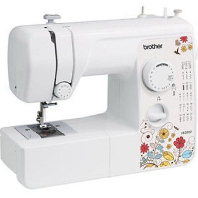 Brother 17 Stitch Sewing Machine LED Work Area Included White