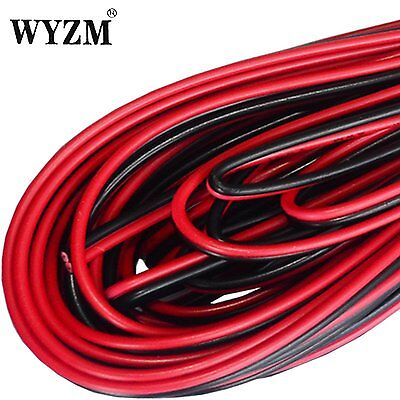 20m 66ft 20 awg Wire Black  Red Extension Cable Cord for Led Strips Cars