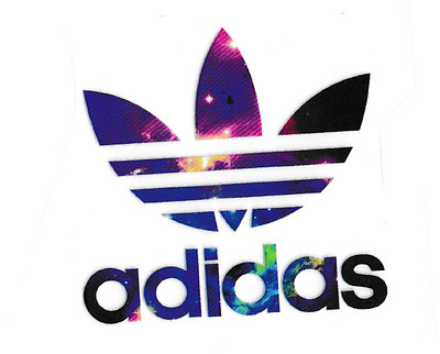 iron on transfer heat adidas logo 7cm x 8cm DIY your clothes