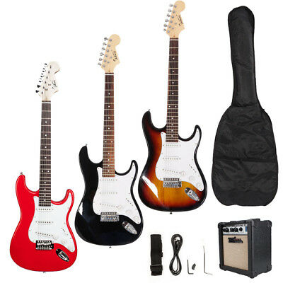 Glarry Electric Guitar + 10 Watt Amp + Gig Bag Case + Guitar Strap Beginners