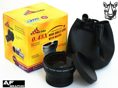 Z3a 37mm HD 0.45x Super Wide Angle Lens with Macro for Camcorder Camera Lenses