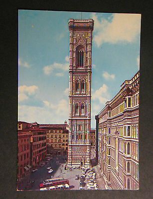 Postcard Vintage Italy Florence Giotto's Steeple