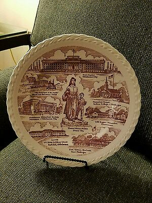 Vernon Kilns Ceramic Plate Oklahoma Heart of the Great Southwest