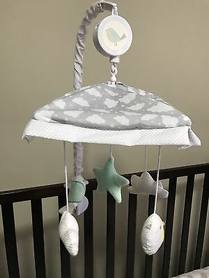 Musical Turning Cot mobile Clouds And Birds