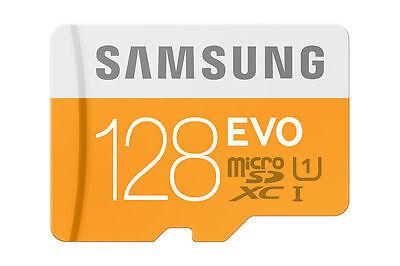 New Samsung 128Gb Up To 48Mb/S Evo Class 10 Micro Sdxc Card With Adapter