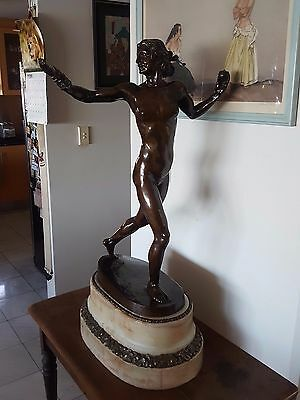 "Fine German 19th Century Bronze ""Nike"" Renowned Sculptor E.M. GEYER"