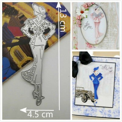 Lady Model Metal Cutting Dies Stencils Scrapbook Paper Card Embossing Craft DIY