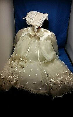 Breathtakingly Beautiful Madonna By Haddad Christening Gown  & Jacket
