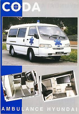 Hyundai H100 Coda Ambulance 2001 catalogue brochure RTW KTW