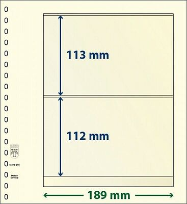LINDNER 802216P T-Blank pages with 2 pockets: 112 mm - pack of 10