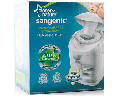 Sangenic Nappy Wrapper System-Nappy Disposal-Closer To Nature-New In Box