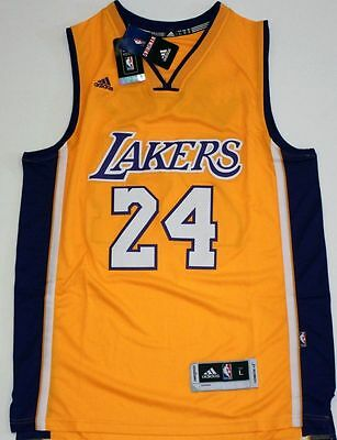 Los Angeles Lakers 24 Kobe Bryant YELLOW PURPLE 24 Throwback Swingman Men Jersey