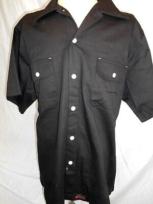 Route 66 AS NEW Black Cotton Rockabilly Hot Rod Short Sleeve Work Shirt XXXL