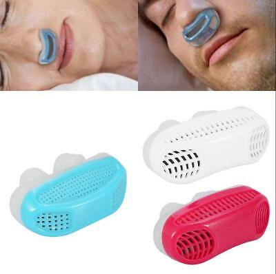 Neuf Silicone Ronflement Bouchon Anti Snore Nez Clip Sleeping Aide Femmes Hommes