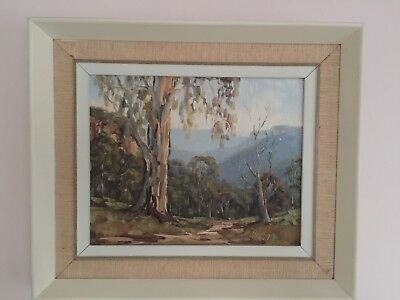 VINTAGE ART Signed AUSTRALIAN GUM TREES BUSH SCENE OIL PAINTING FRAMED, Katoomba