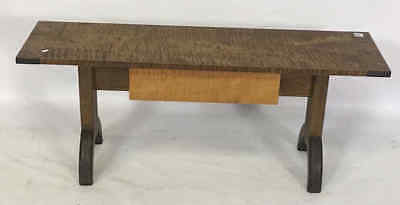 Cabinet Made Tiger Maple Bench Lot 401
