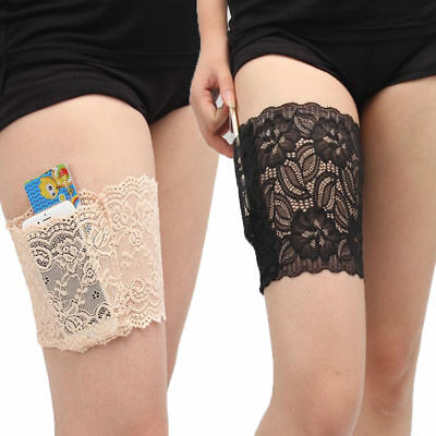 Womens Non Slip Lace Elastic Sock Anti-Chafing Thigh Bands Thigh Chafing Socks
