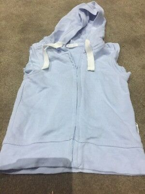 Purebaby Brushed Cotton Size 0 Hooded Vest