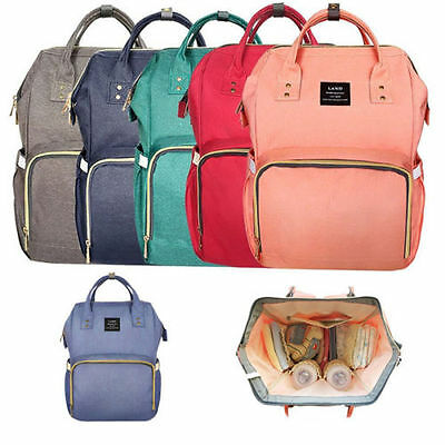 Baby Diaper Nappy Backpack Mummy Bag Large Changing Mom Bag Water Resistance