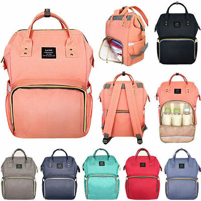 Waterproof Bag Baby Diaper Nappy Backpack Mummy Bag Large Changing Mom Bag