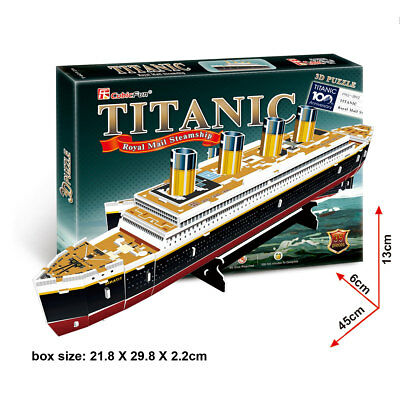 World's Great Architecture Titanic Ship 35 Piece 3D Model DIY Hobby Build Kit