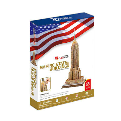 World's Great Architecture Empire State Building 55 Piece 3D Model DIY Hobby Kit