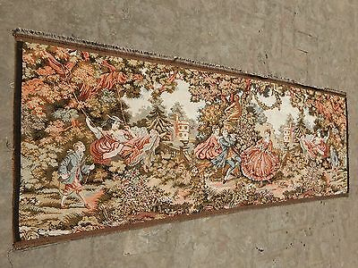 Vintage French Beautiful Romantic Scene Tapestry 203x72cm (A1204)