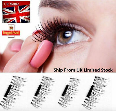 3D Magnetic False Eyelashes Natural Eye Lashes Extension Handmade Reuse NO GLUE