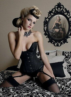 Low cut Corset Fancy Dress Club wear Evening wear Size S M L XL XXL