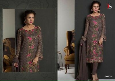 Pakistani Salwar Kameez Suit For Wedding Party EID Gift Georgette Stitched M-38""