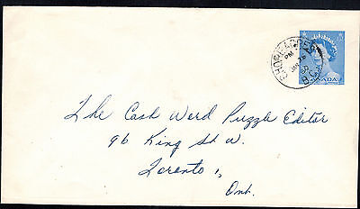 Canada 1960 Single Franked Postal Stationairy*shore Acres, B.c. To Toronto, Can