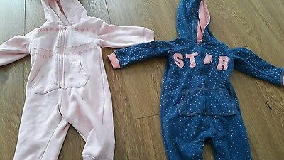 Girls all in one tracksuit outfits 12-18 months