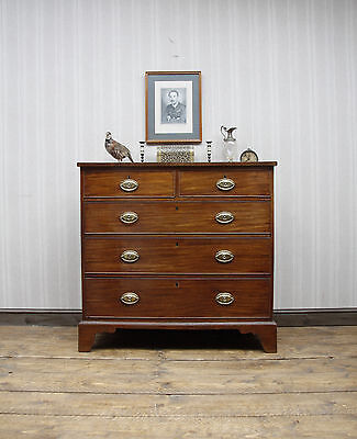 Superb Georgian Mahogany Chest of Drawers, Quality Antique Bedroom Drawers