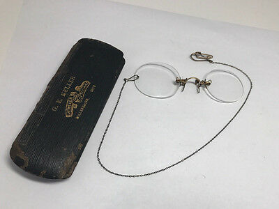 ANTIQUE Vtg WISTA Frameless CHAIN with CLASP EYEGLASSES
