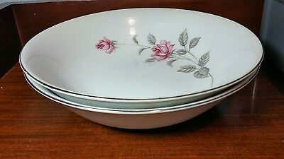 Lennold Fine China Enchanted Rose Serving Bowls.  Shabby Chic. Set of two.