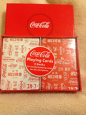 2 Decks Coca-Cola Coke playing cards bicycle Brand New sealed package