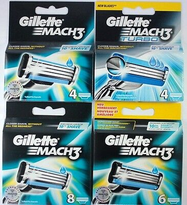 Gillette Mach3 razor blades **Please choose QTY**