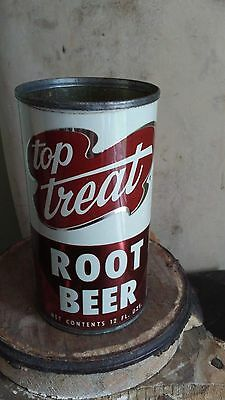 Old Top Treat Root Beer Flat Can, Soda Pop, Advertising, Prop, Display,