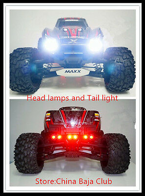 RC Parts,TRAXXAS X-MAXX LED Headlamps & Taillight Set contain head light bracket