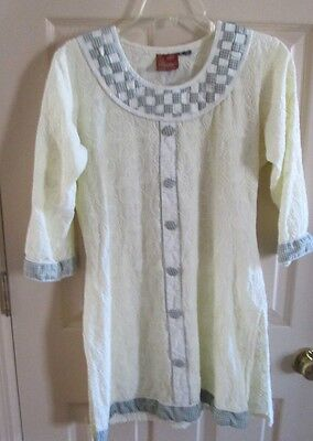 Renaissance/Medieval Child's Ethnic Tunic Costume Embroidered Girl's XL Balika