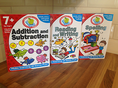 Children Educational Learning Set Of 3 Books Maths English Spelling Writing Age