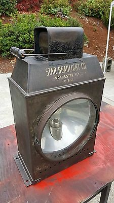 Star Steam Engine Headlight Rochester,N.Y. Tractor Locomotive boiler gauge